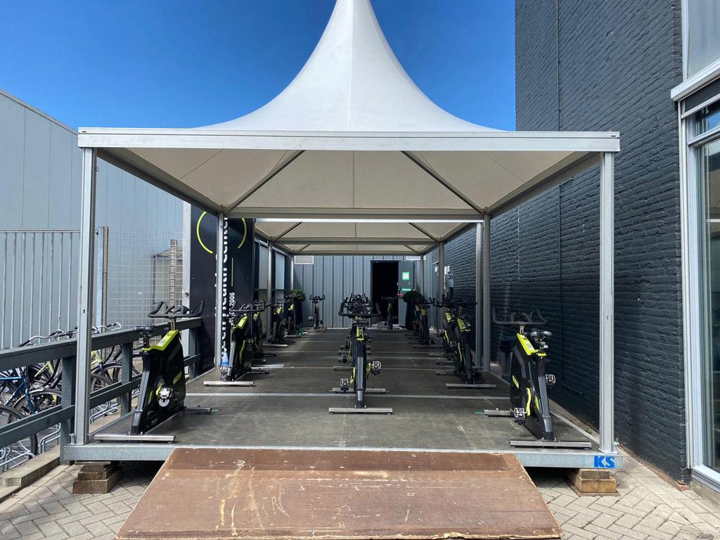 Tijdelijke sportruimte Green Health Center