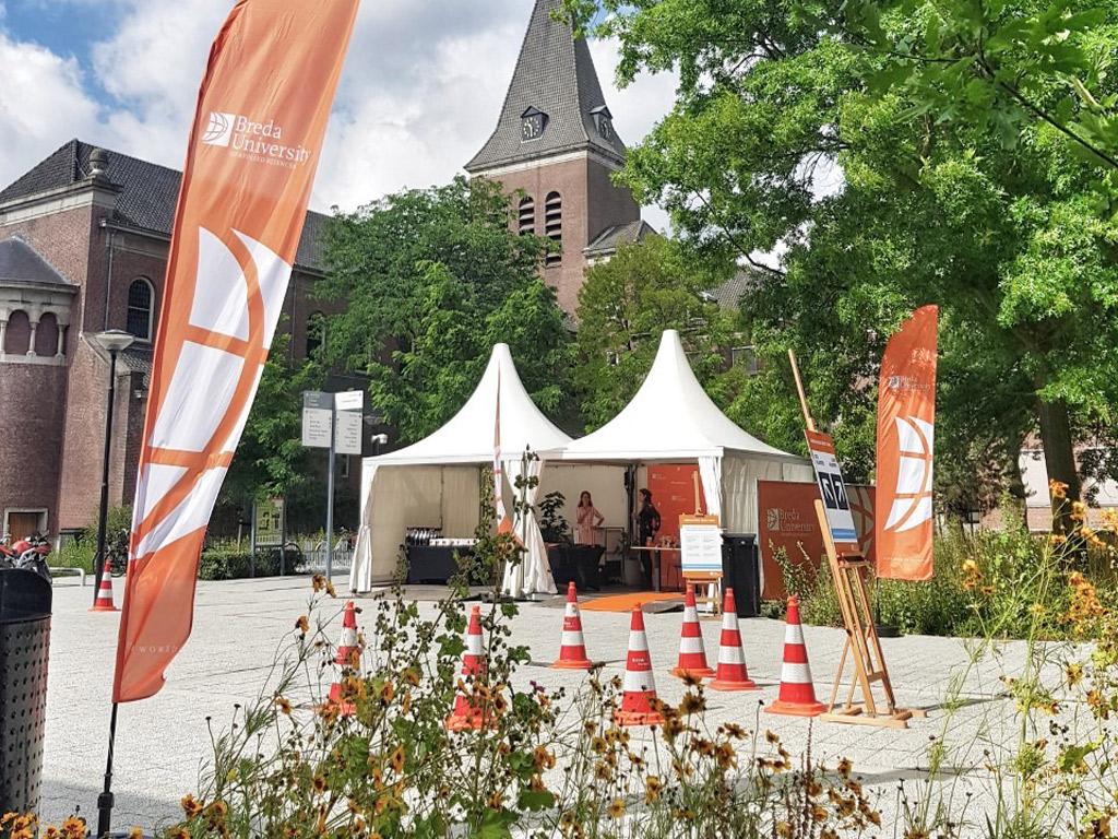 Pagodetenten voor diplomauitreiking Universiteit Breda - Kontent Structures