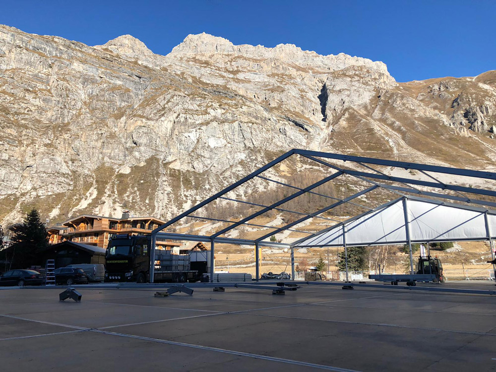 Tentconstructie Val D'isere