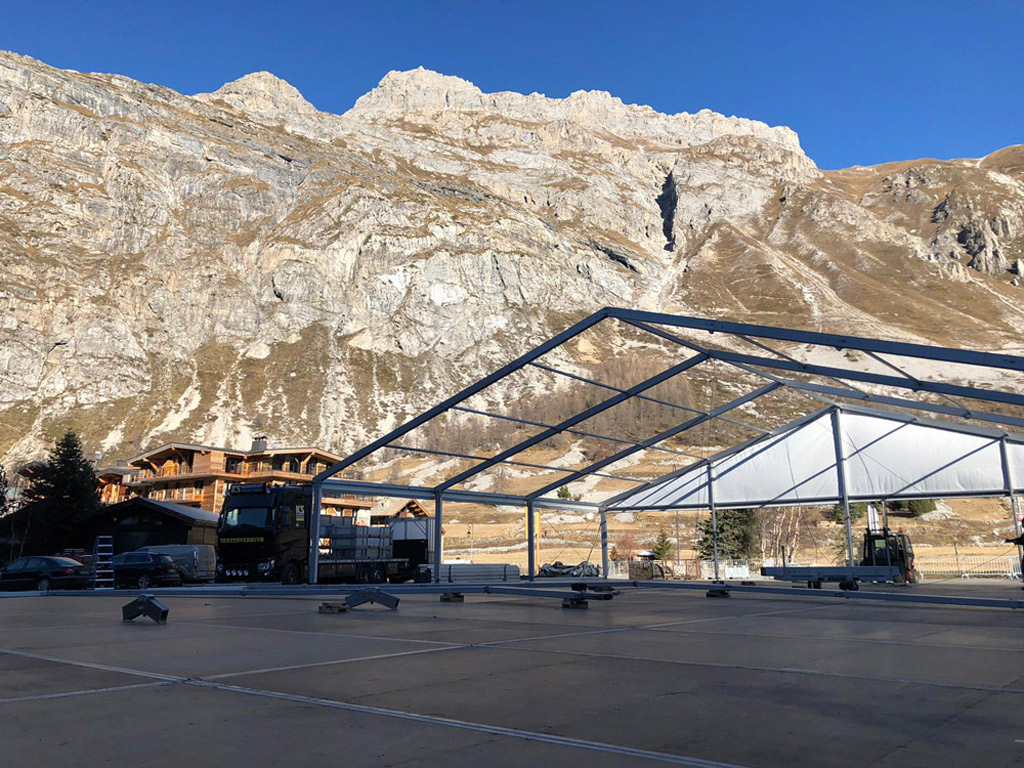 Tentstructure Val d'isere
