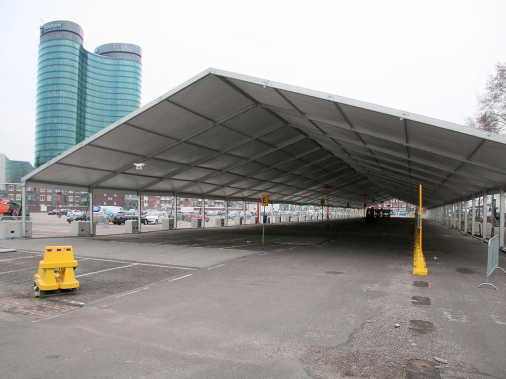 Tentconstructie motorshow Jaarbeurs