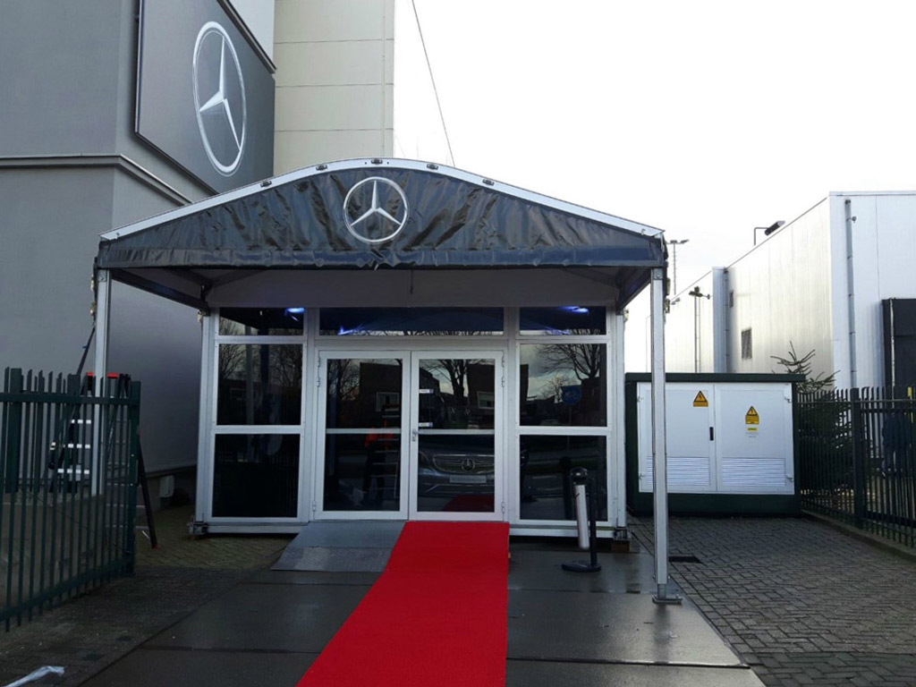 Temporary showroom Mercedes