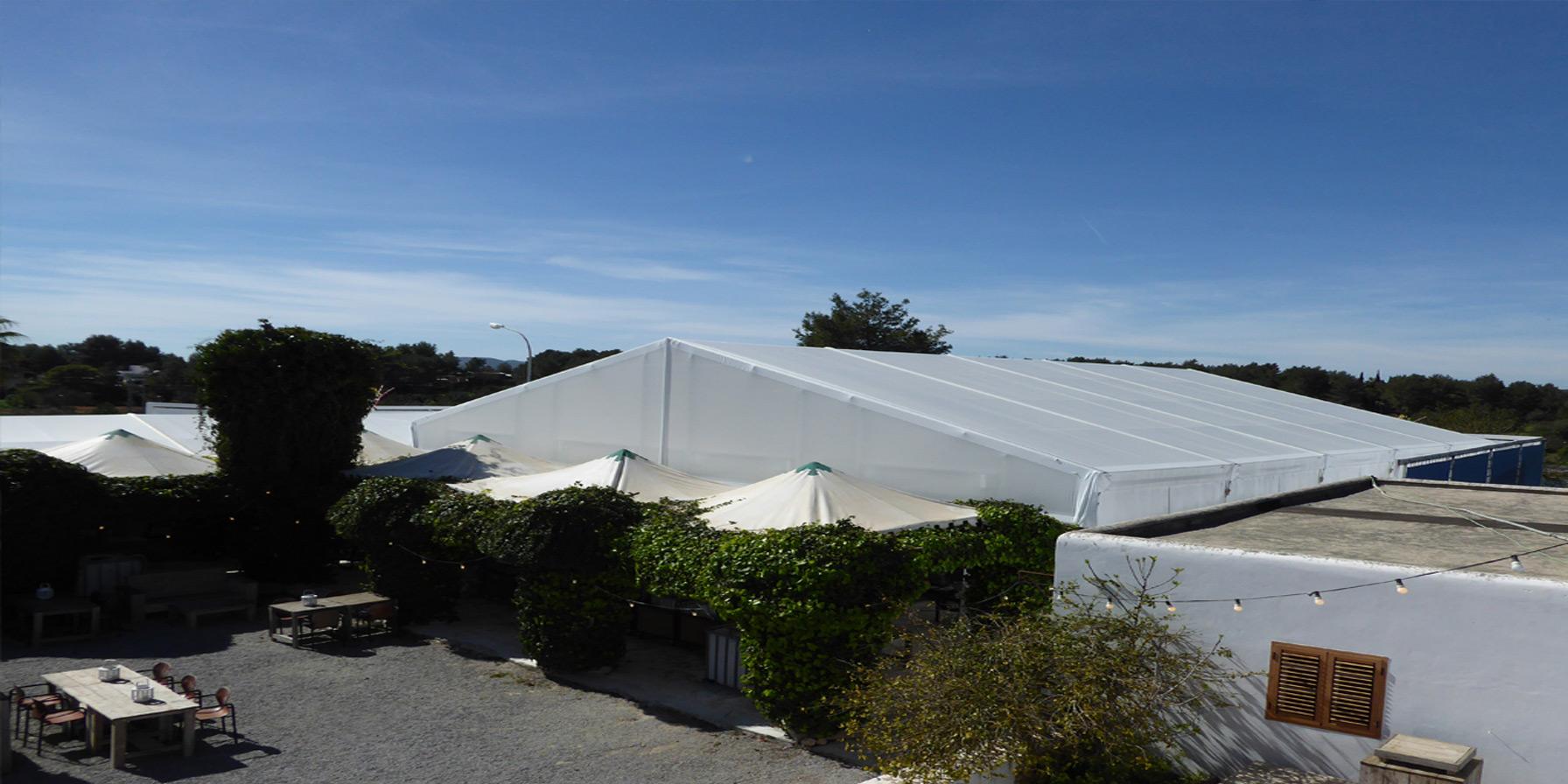 Tent op Ibiza