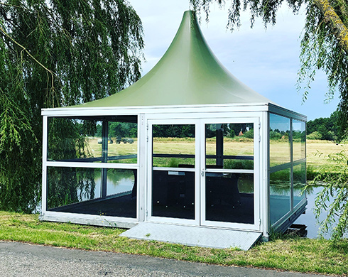 ES 64 Pagoda tent by Kontent Structures