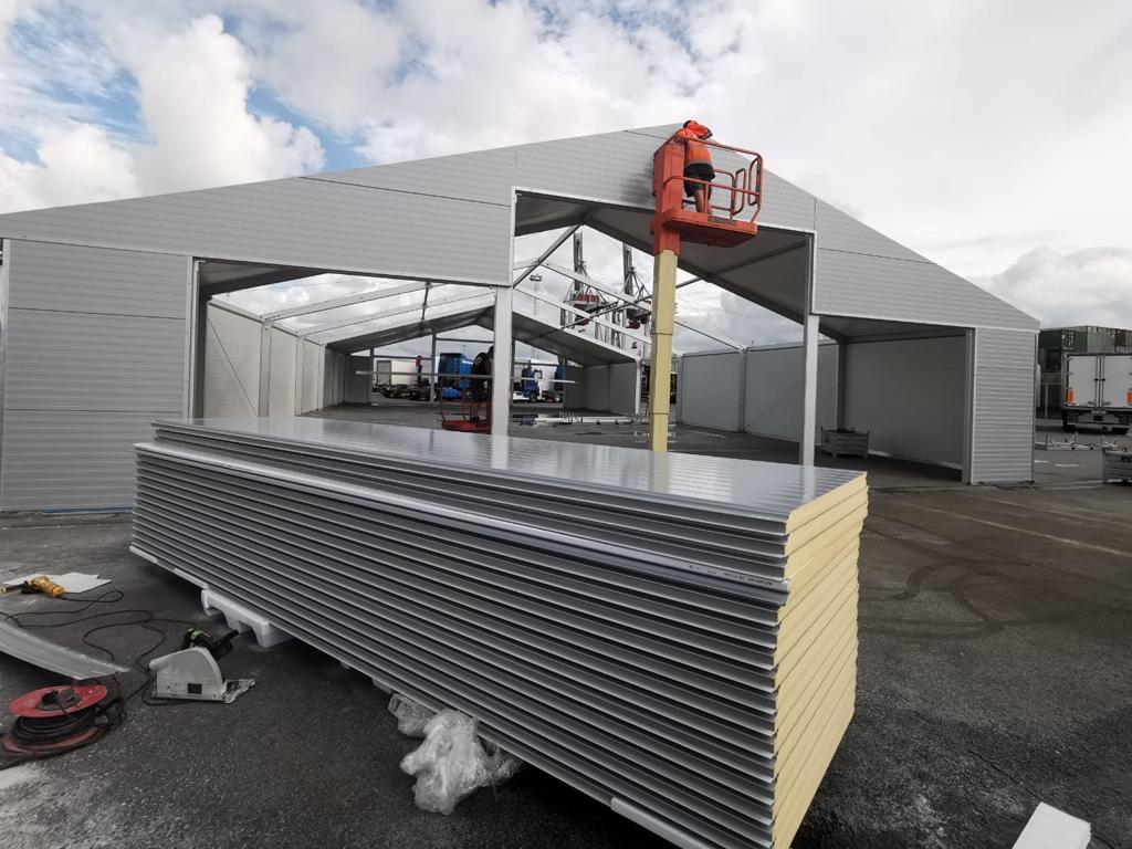 Opslagtent Tentconstructie EWS Antwerpen - Kontent Structures