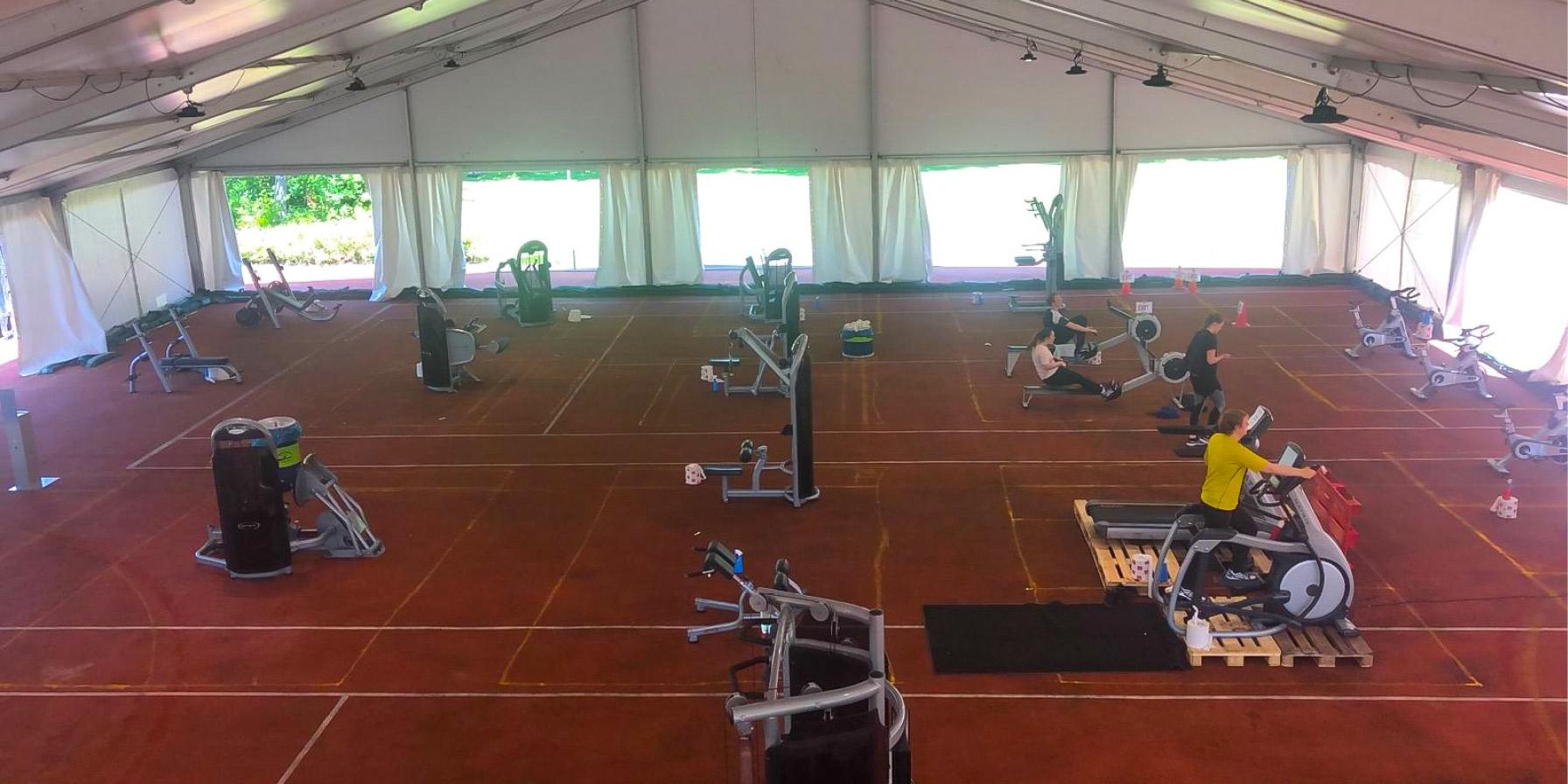 Tijdelijke sporthal Leiden University - Kontent Structures