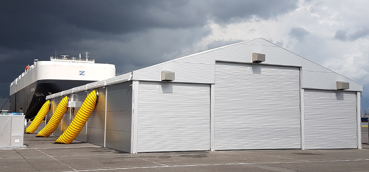 Semi-permantent warehouse structures by Kontent Structures