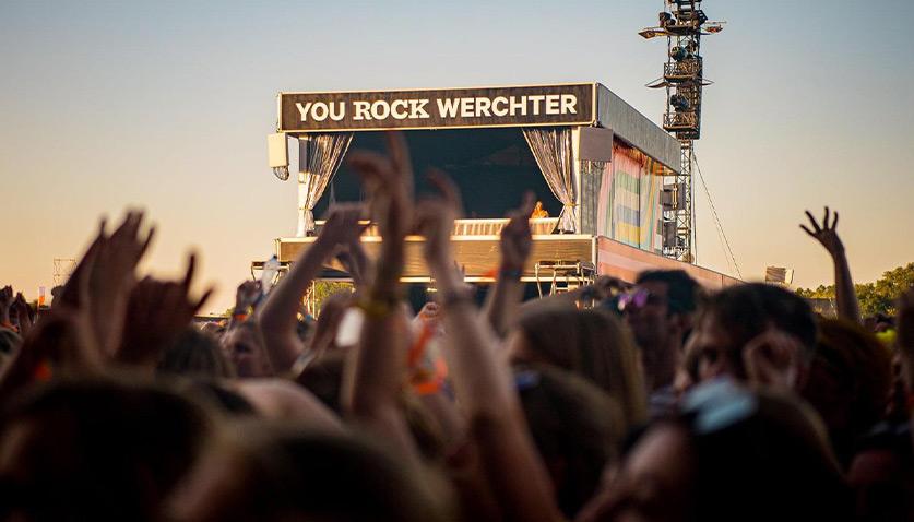 Rock Werchter Festival met Etagetent - Kontent Structures