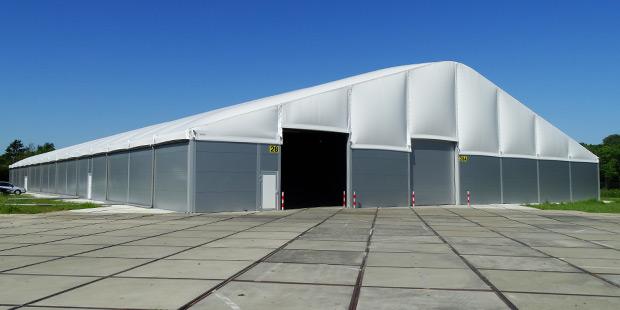 Semi-permanente bedrijfshal Kaak Nederland, Terborg door Kontent Structures
