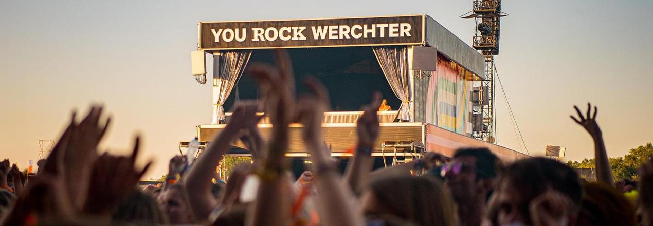 Festivaltent voor Rock Werchter