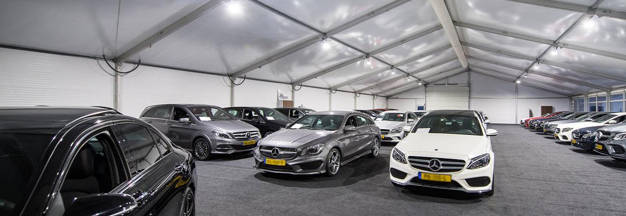 Mercedes-Benz tijdelijke Showroom - Kontent Structures