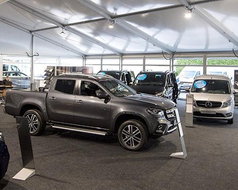 Mercedes-Benz Showroom - Semi-permanente bedrijfshal